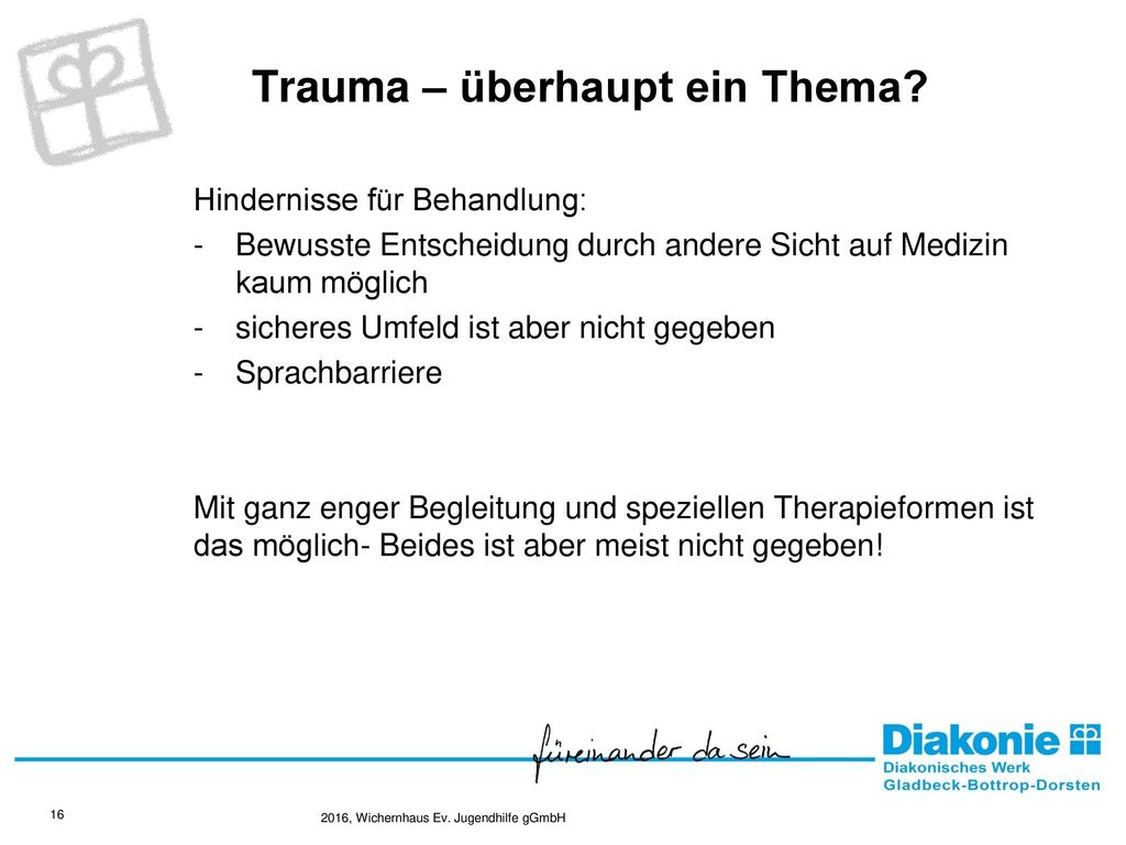Trauma – überhaupt ein Thema