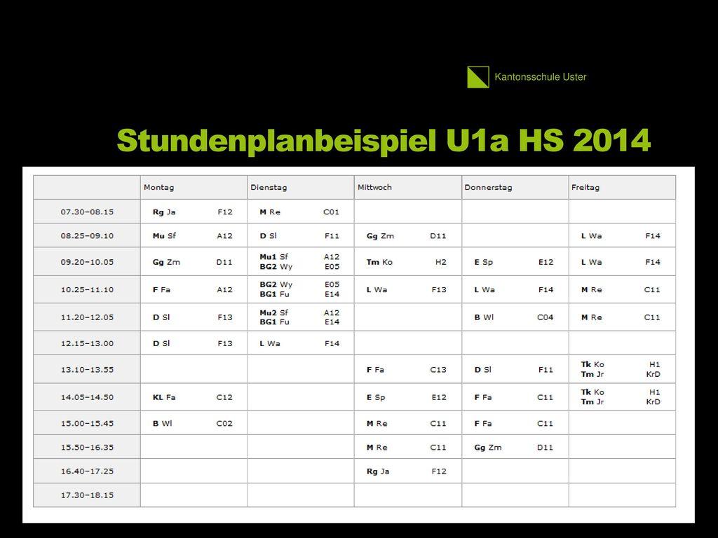 Stundenplanbeispiel U1a HS 2014