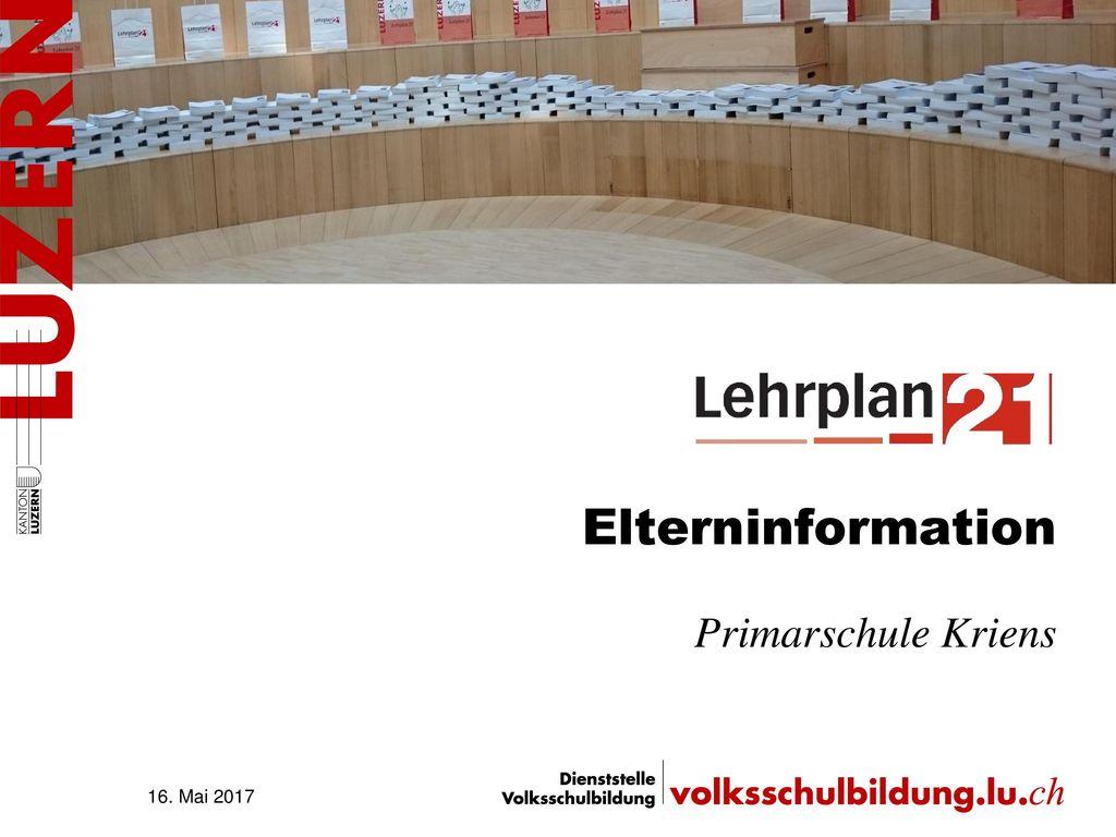 Elterninformation Primarschule Kriens