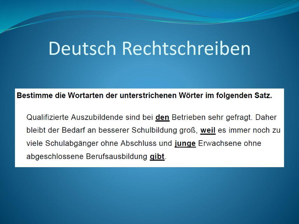 Deutsch Rechtschreiben