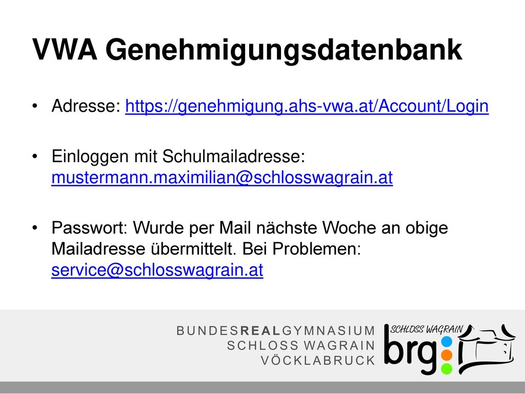 VWA Genehmigungsdatenbank