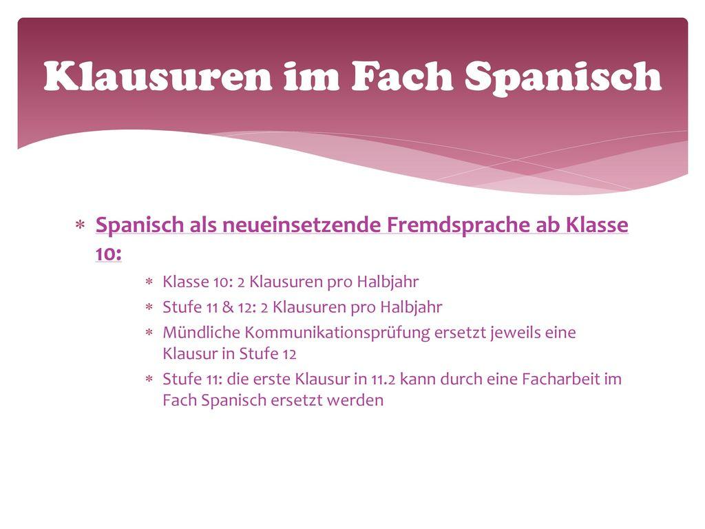 Ziele des Spanischunterrichts