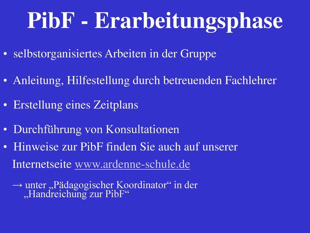 PibF - Erarbeitungsphase