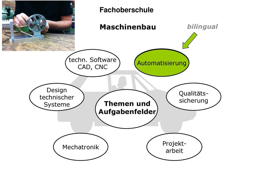 Fachoberschule Maschinenbau Themen und Aufgabenfelder bilingual