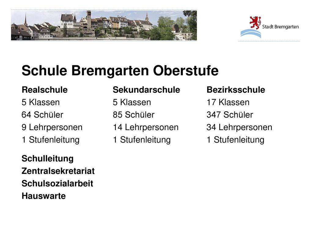 Schule Bremgarten Oberstufe