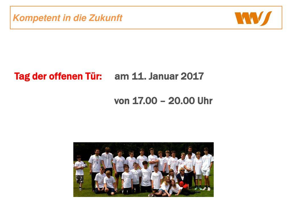 Tag der offenen Tür: am 11. Januar 2017 von 17.00 – 20.00 Uhr
