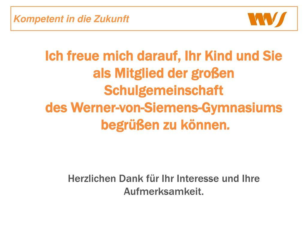 des Werner-von-Siemens-Gymnasiums