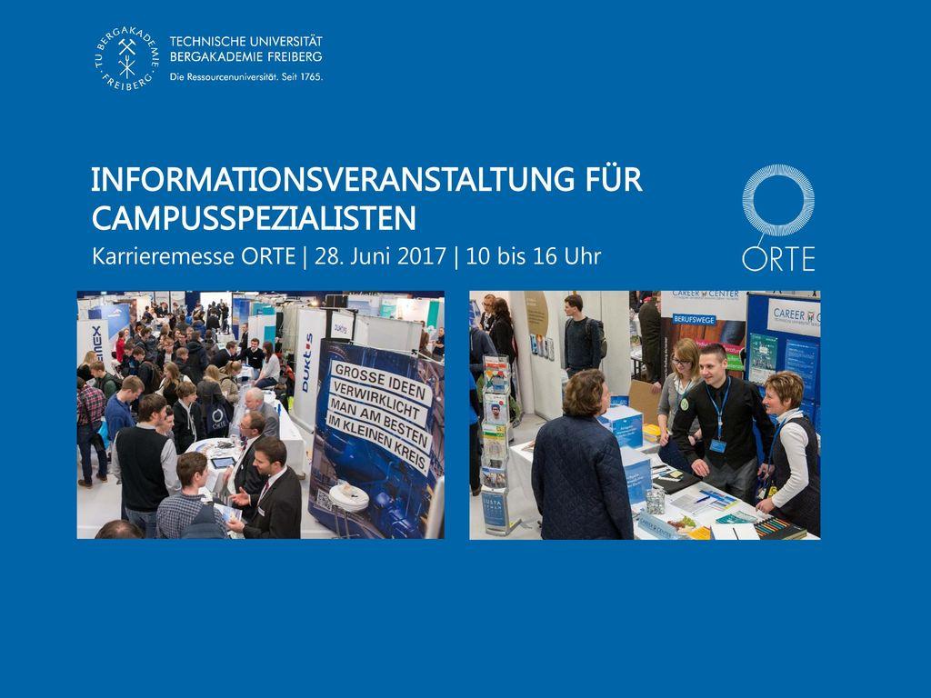 Informationsveranstaltung fÜr Campusspezialisten