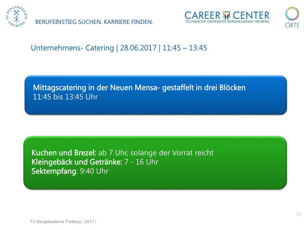 Unternehmens- Catering | 28.06.2017 | 11:45 – 13:45