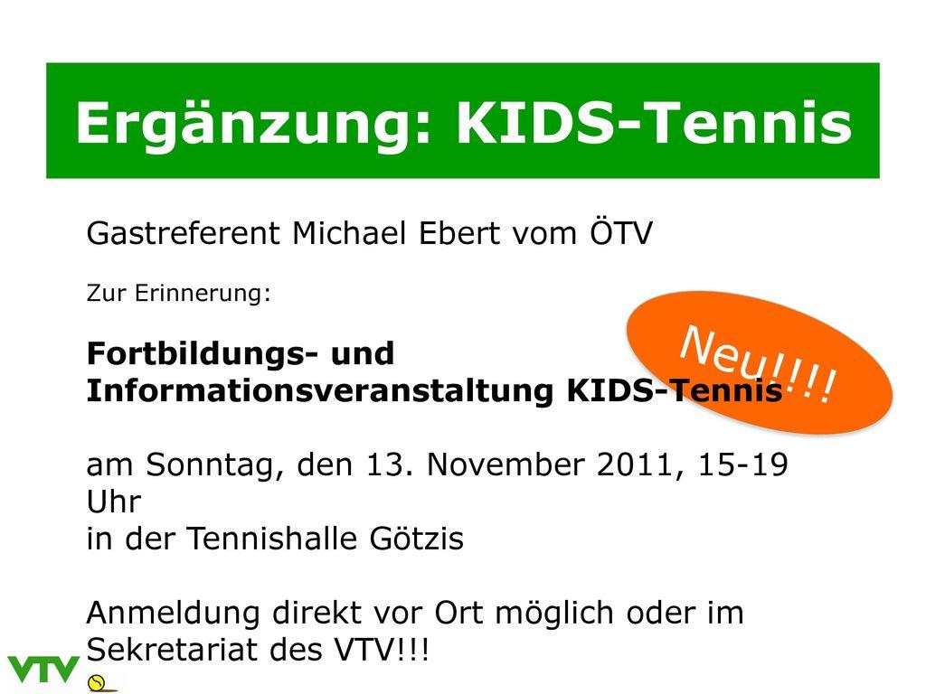 Ergänzung: KIDS-Tennis