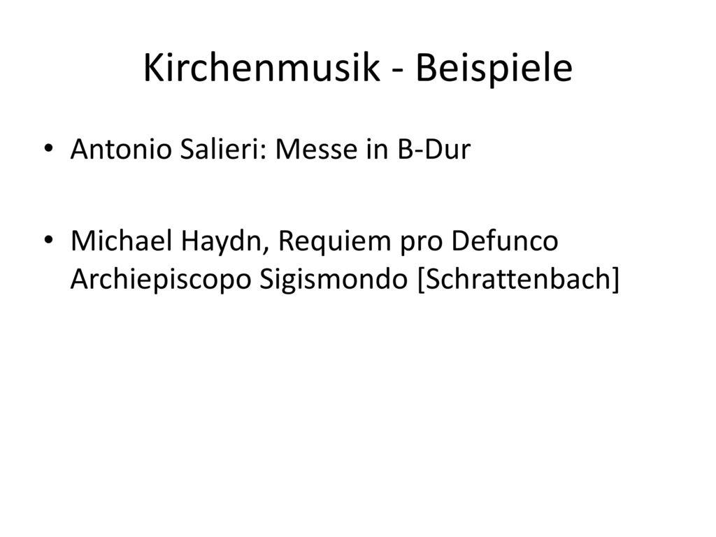 Kirchenmusik - Beispiele