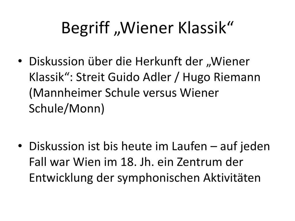 "Begriff ""Wiener Klassik"