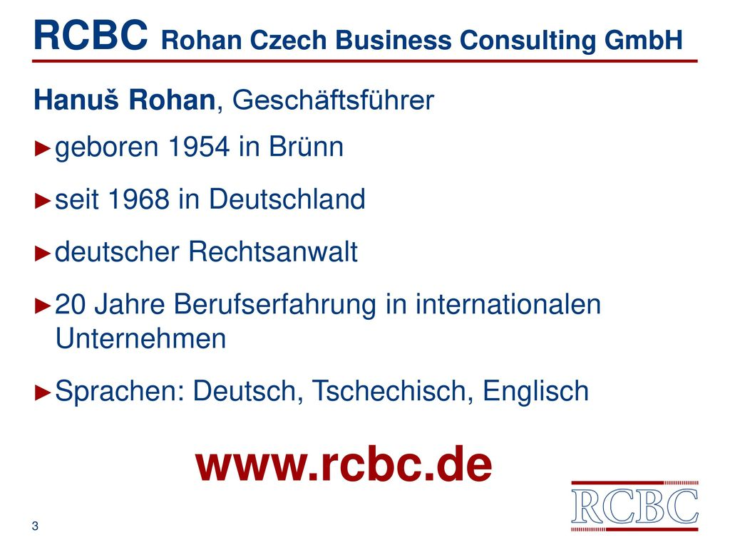 RCBC Rohan Czech Business Consulting GmbH