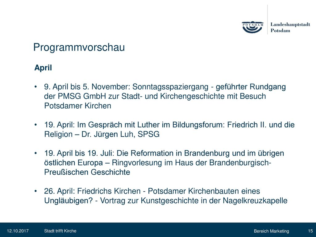 Programmvorschau April