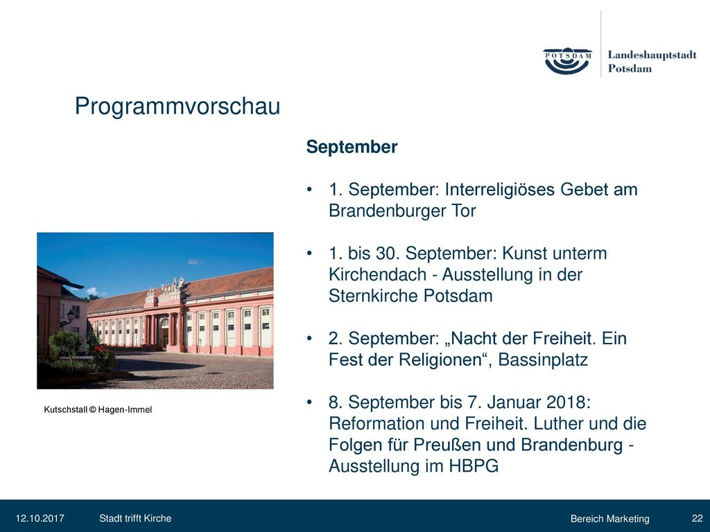 Programmvorschau September