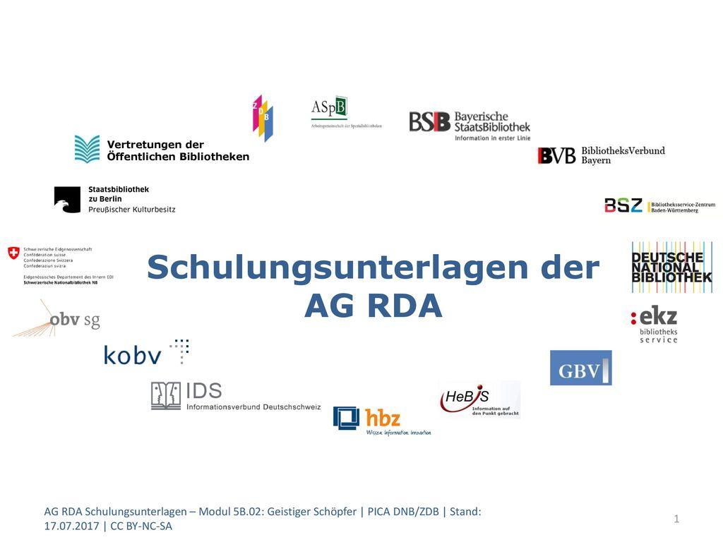 Schulungsunterlagen der AG RDA