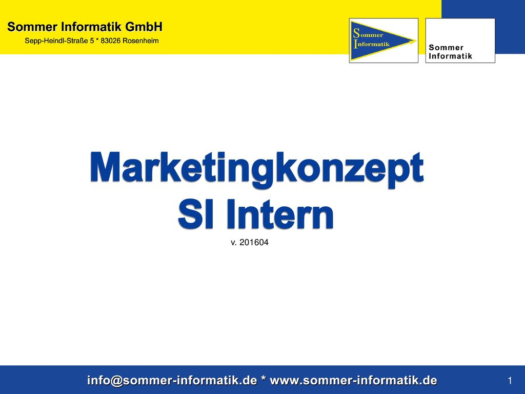 Marketingkonzept SI Intern