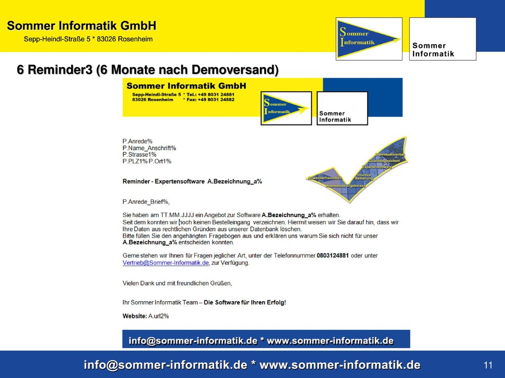 6 Reminder3 (6 Monate nach Demoversand)