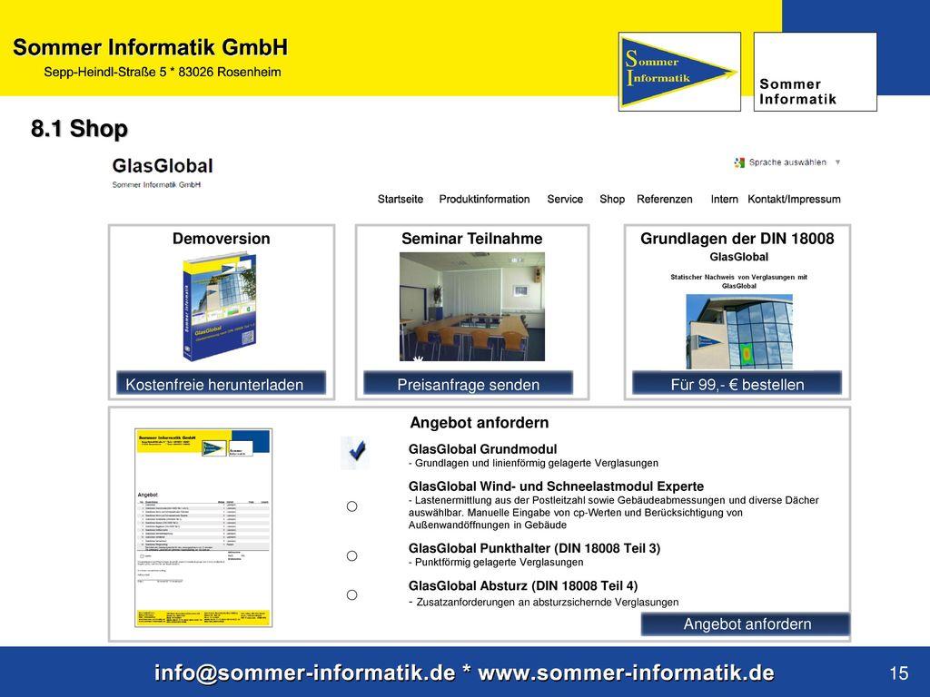 8.1 Shop ○ 15 Demoversion Seminar Teilnahme Grundlagen der DIN 18008