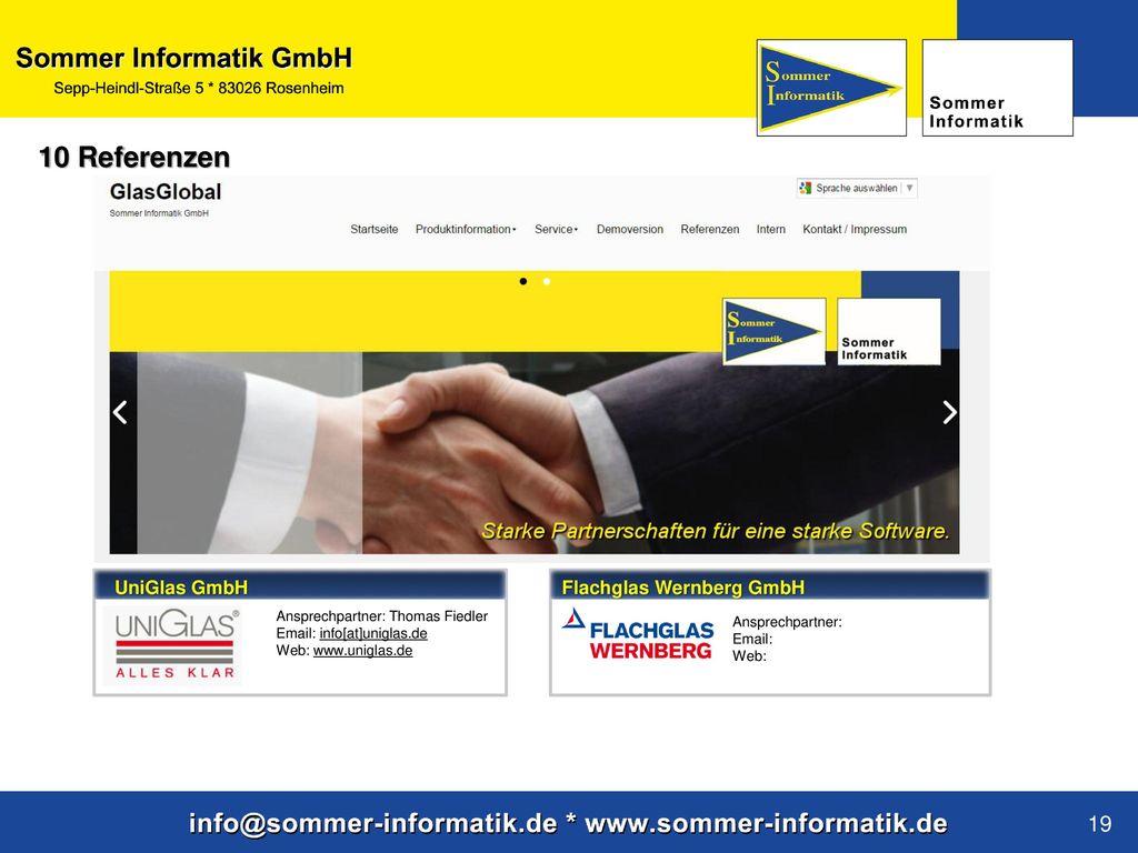 10 Referenzen UniGlas GmbH Flachglas Wernberg GmbH