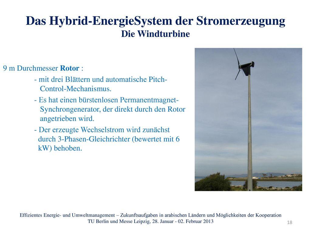Das Hybrid-EnergieSystem der Stromerzeugung Die Windturbine