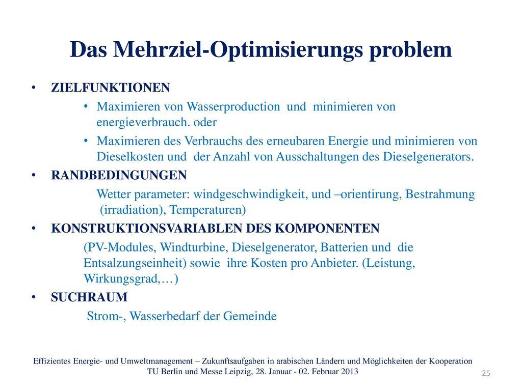 Das Mehrziel-Optimisierungs problem