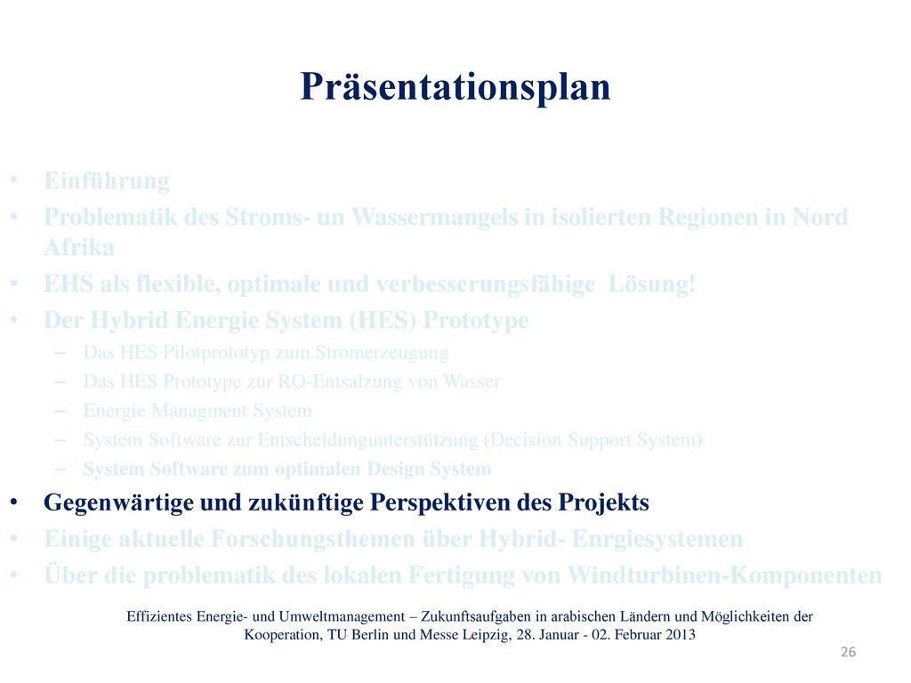 Präsentationsplan Einführung