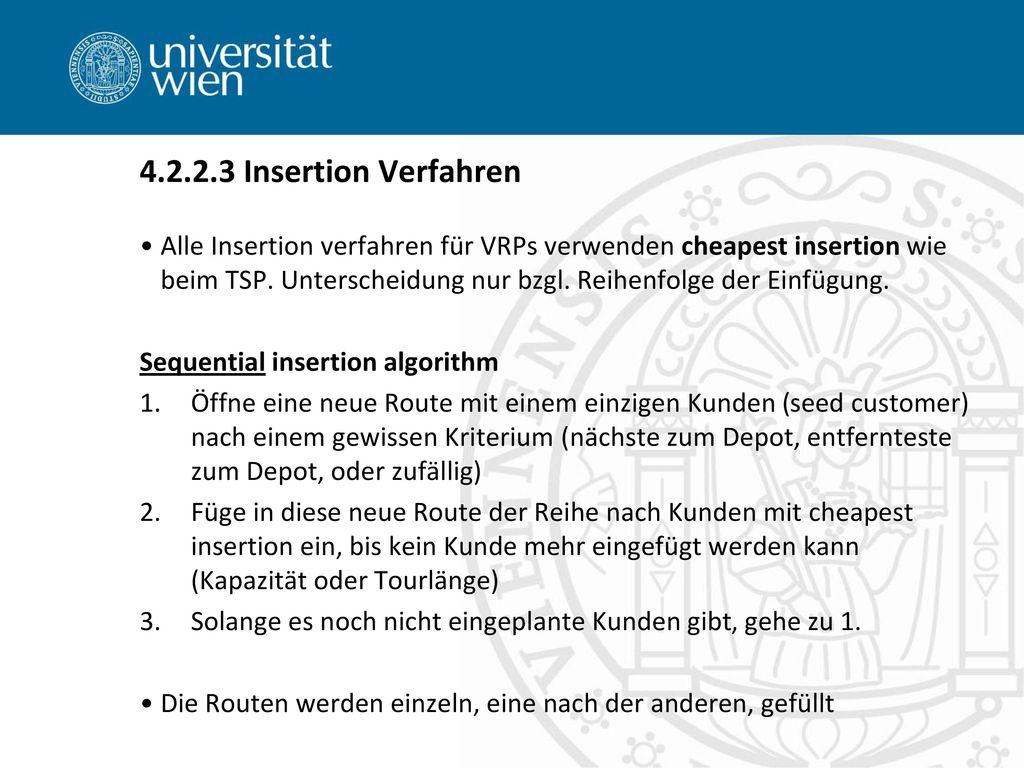 4.2.2.3 Insertion Verfahren