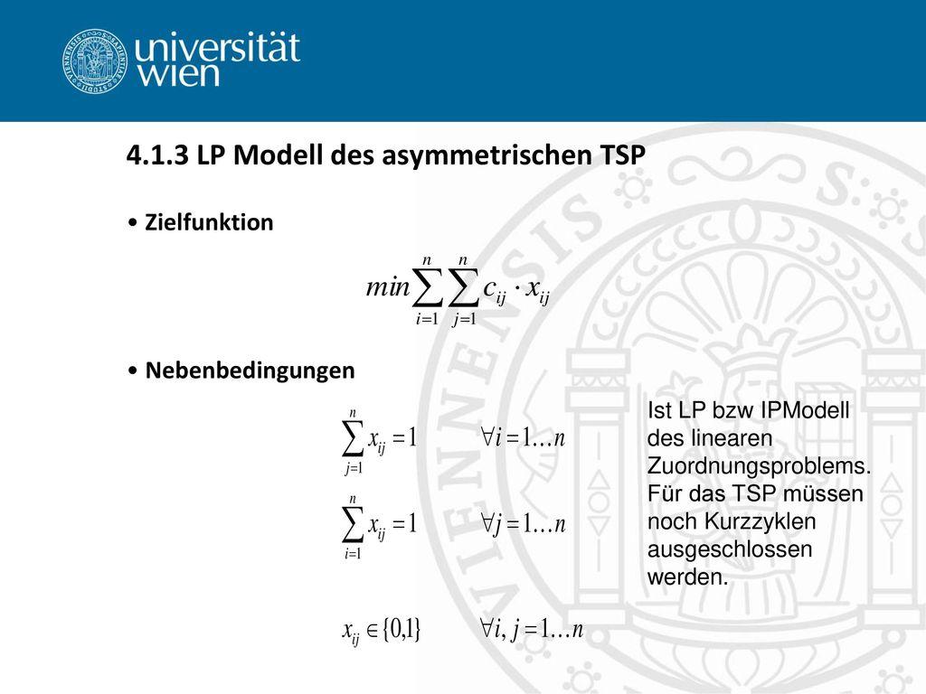 4.1.3 LP Modell des asymmetrischen TSP