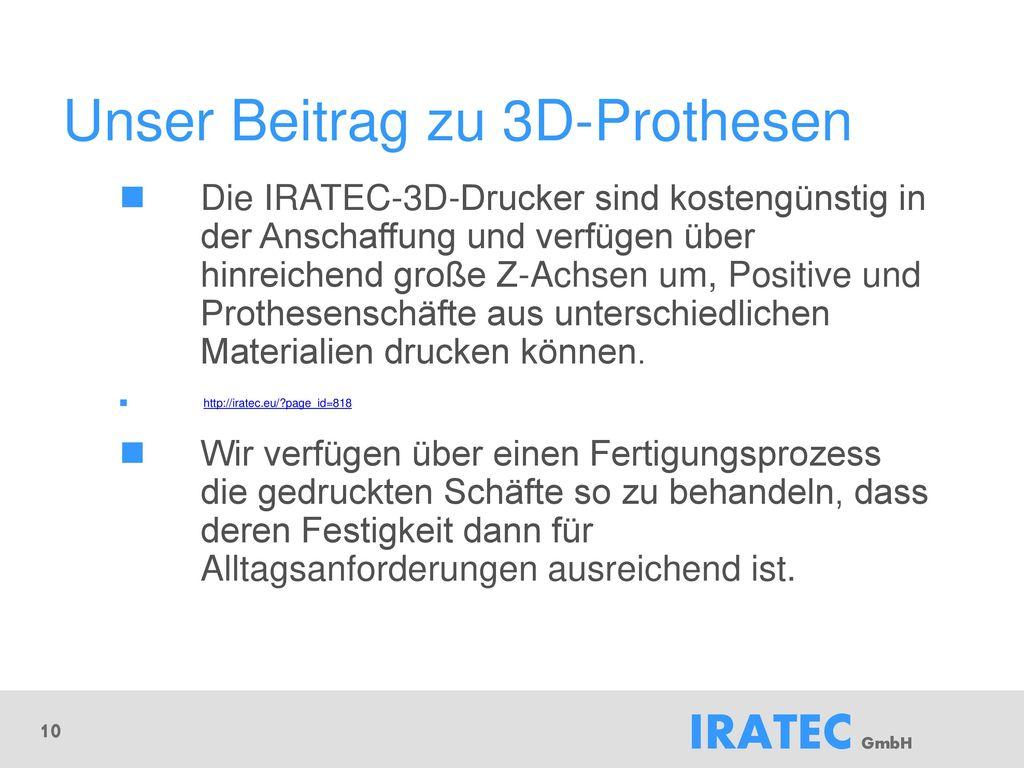 Unser Beitrag zu 3D-Prothesen
