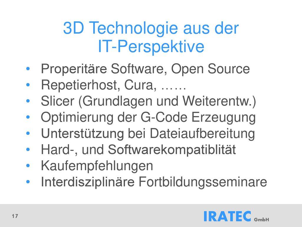 3D Technologie aus der IT-Perspektive