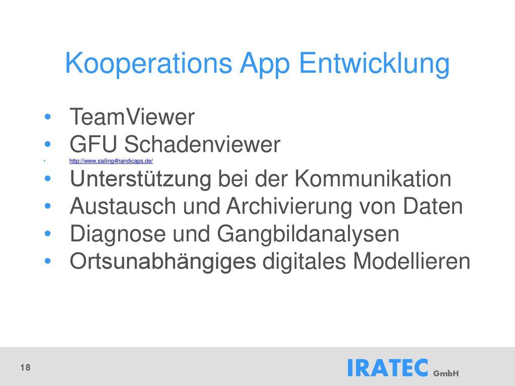 Kooperations App Entwicklung