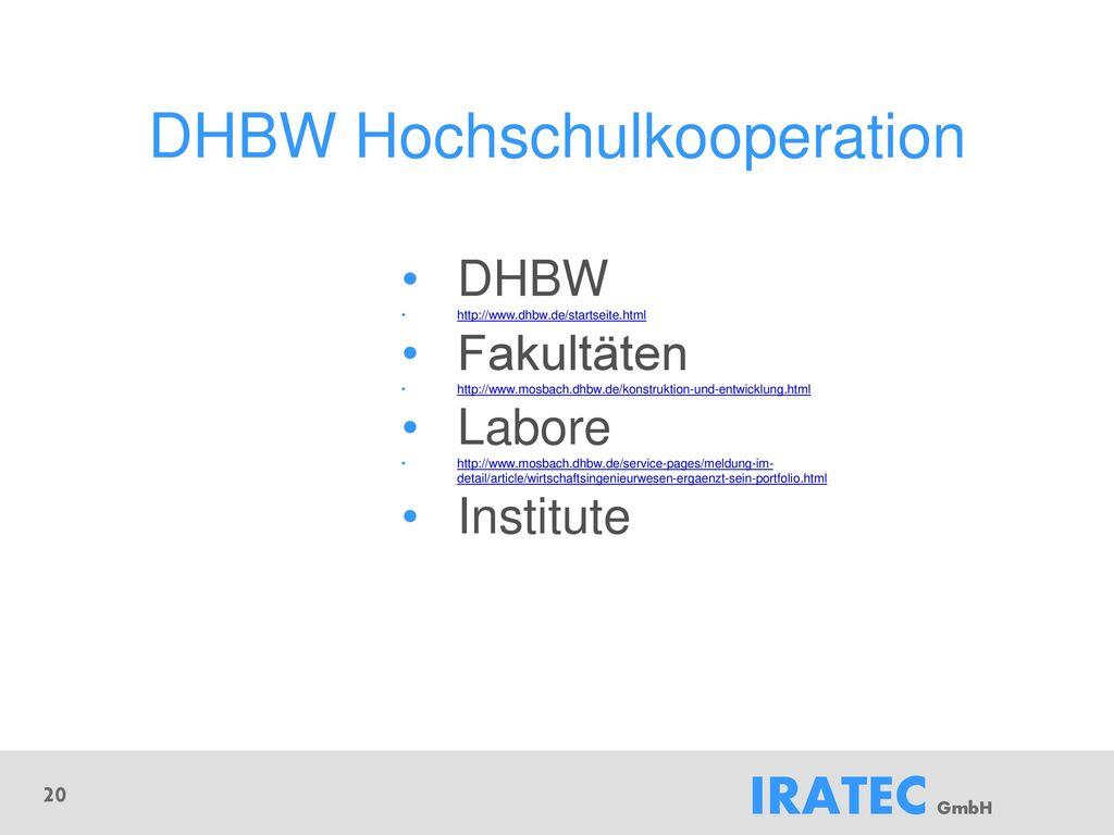 DHBW Hochschulkooperation