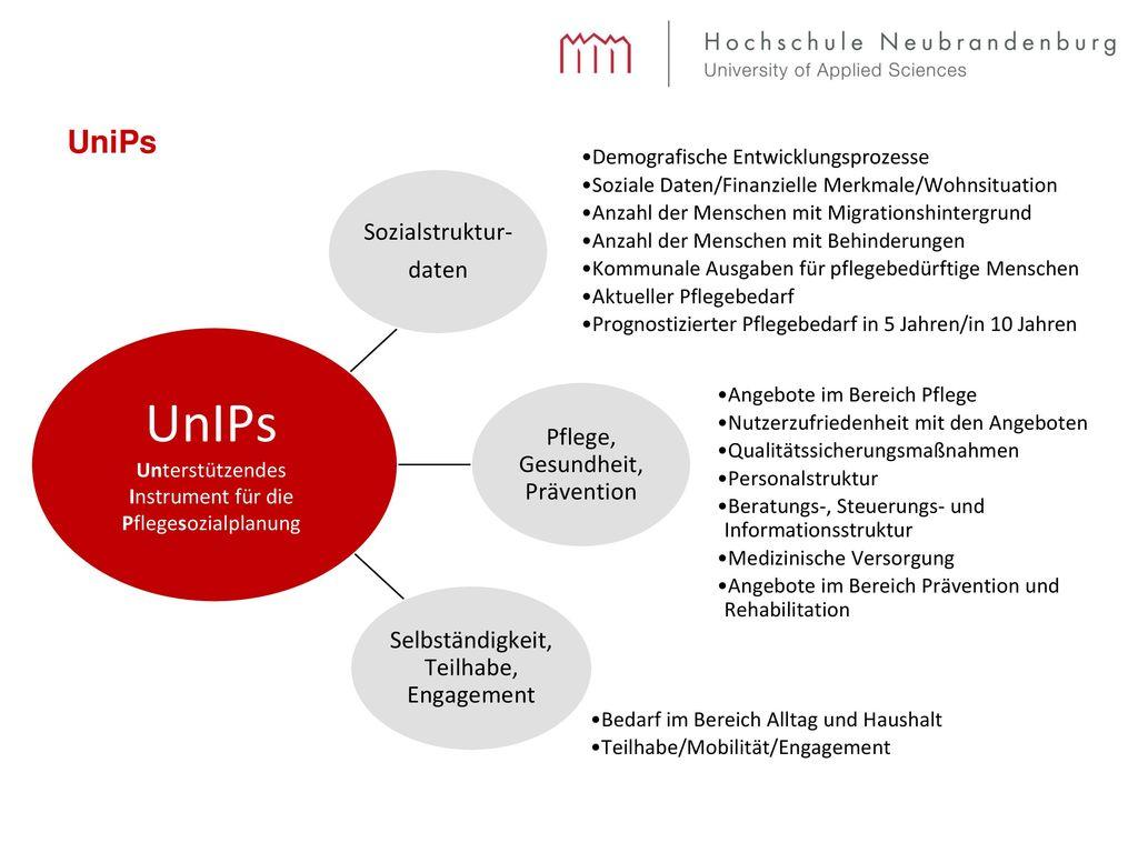 UnIPs UniPs Sozialstruktur- daten Pflege, Gesundheit, Prävention