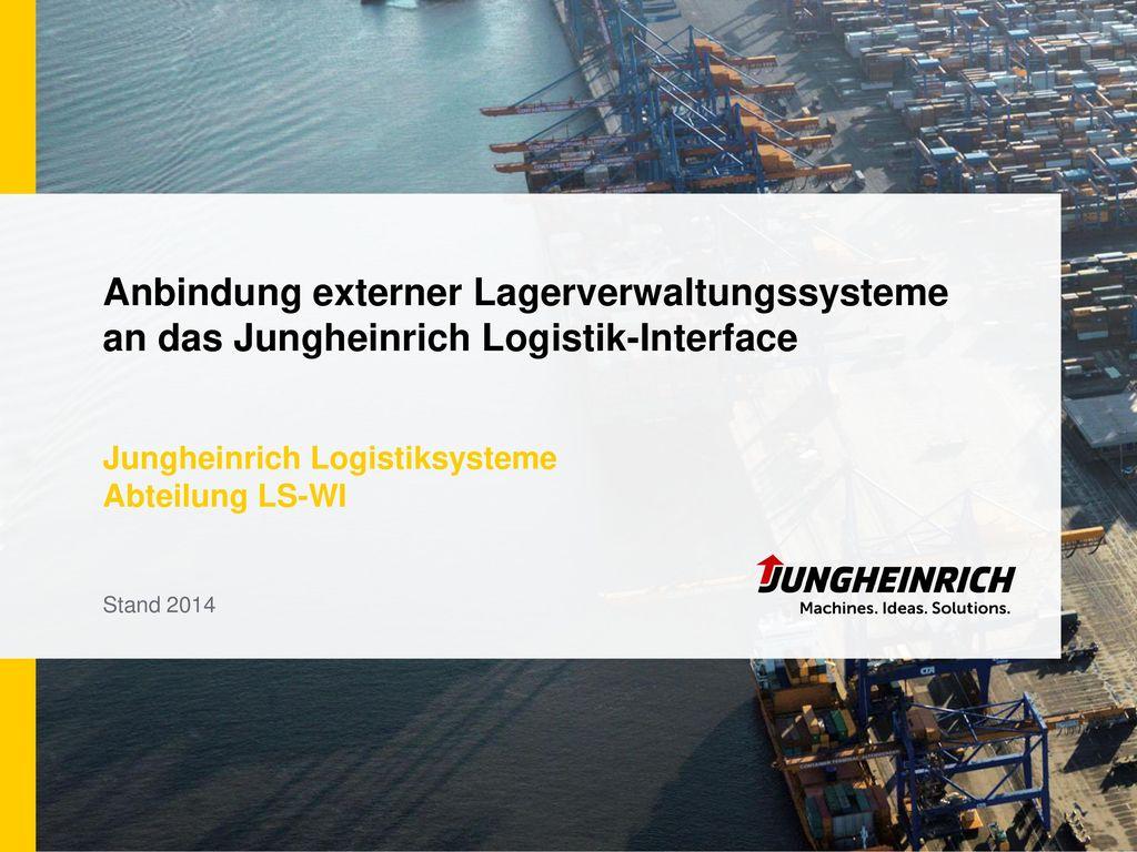 Jungheinrich Logistiksysteme Abteilung LS-WI