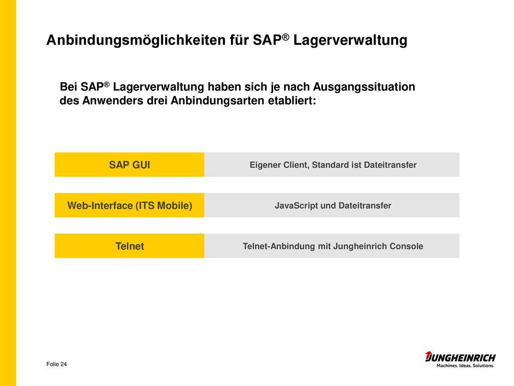 Anbindungsmöglichkeiten für SAP® Lagerverwaltung