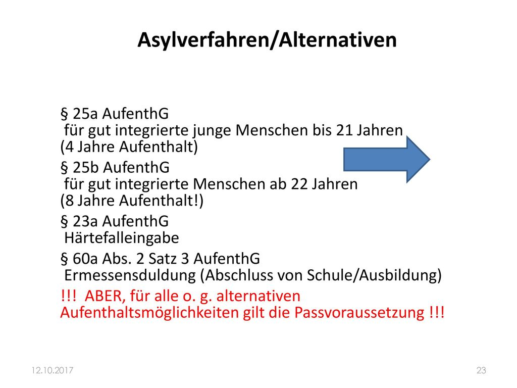 Asylverfahren/Alternativen