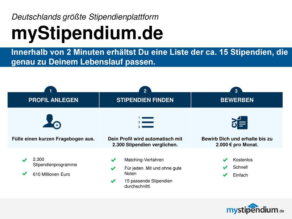 myStipendium.de Deutschlands größte Stipendienplattform
