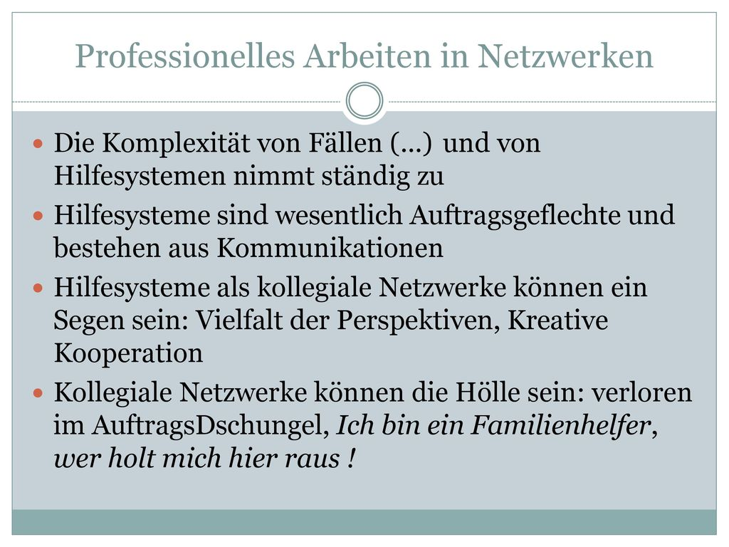 Professionelles Arbeiten in Netzwerken