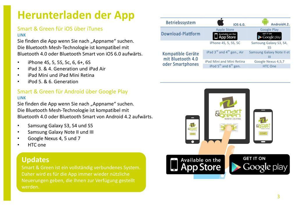 Herunterladen der App Updates Smart & Green für iOS über iTunes