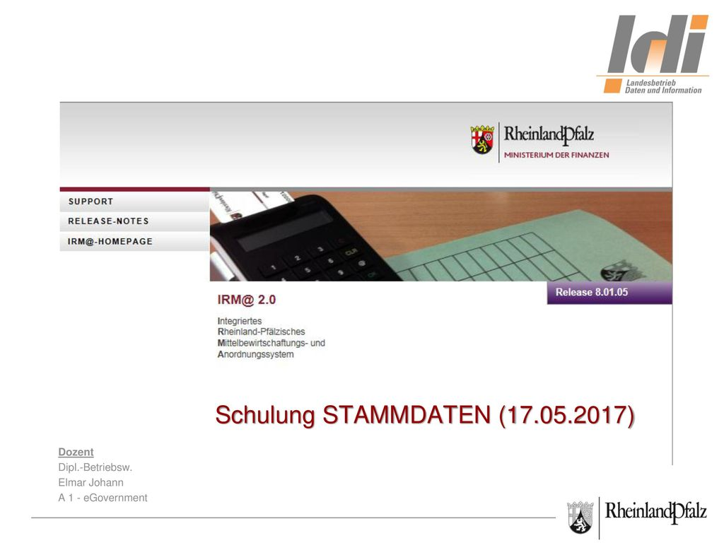 IRM@-Schulung STAMMDATEN (17.05.2017)