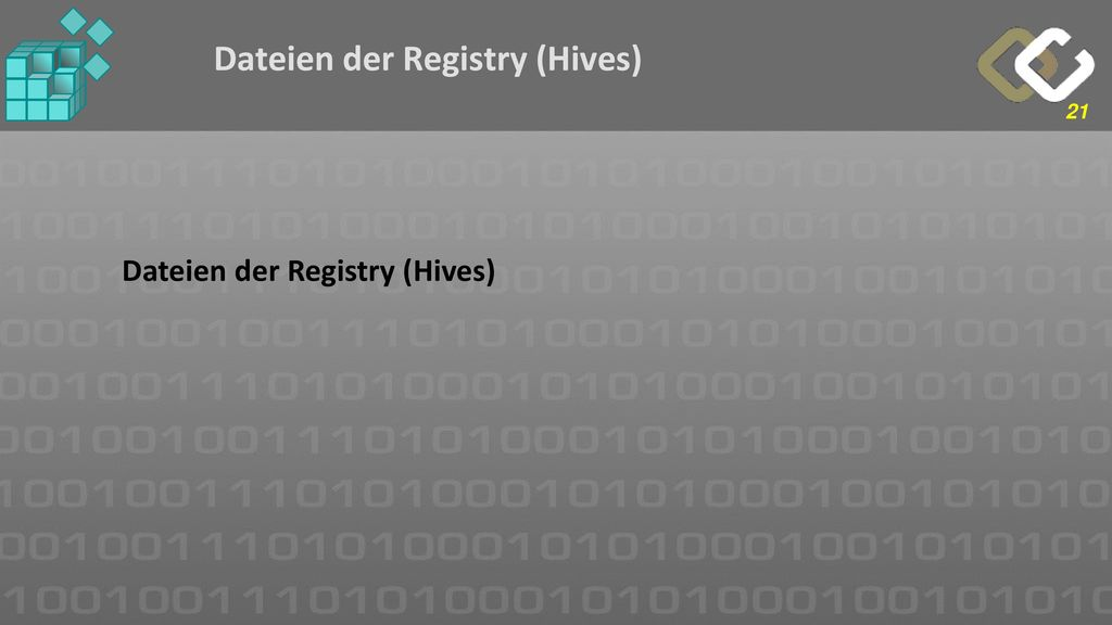 Dateien der Registry (Hives)