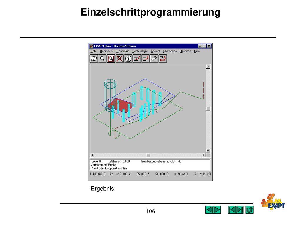 Einzelschrittprogrammierung