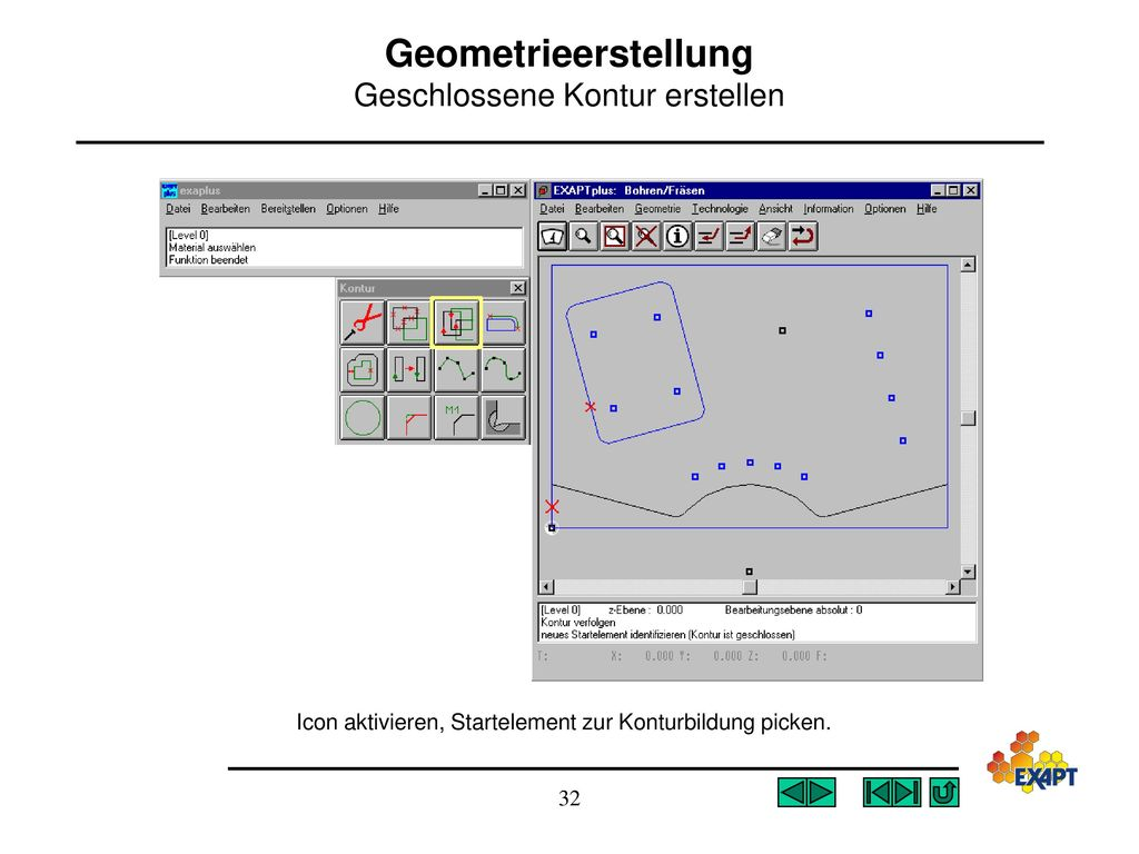 Geometrieerstellung Geschlossene Kontur erstellen