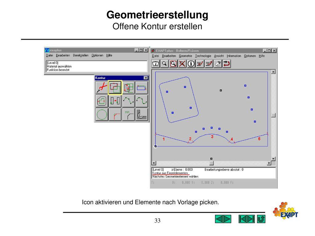 Geometrieerstellung Offene Kontur erstellen