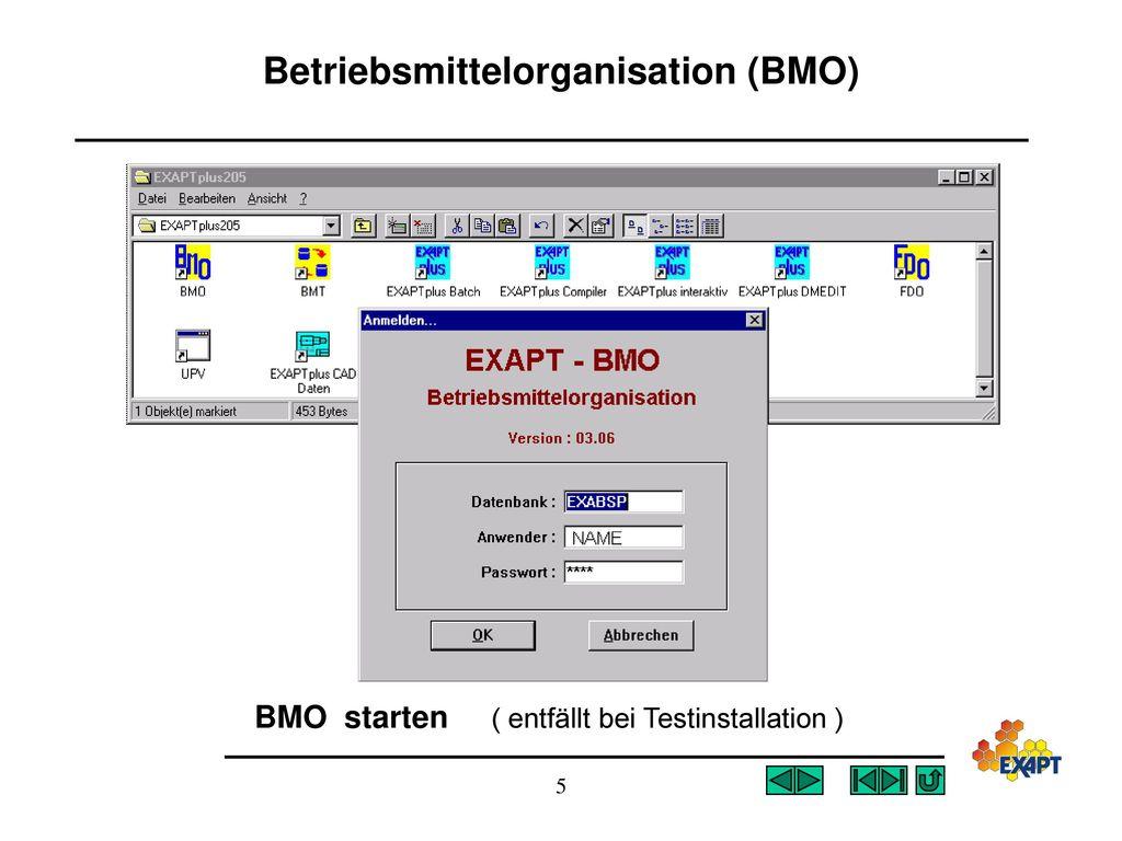 Betriebsmittelorganisation (BMO)
