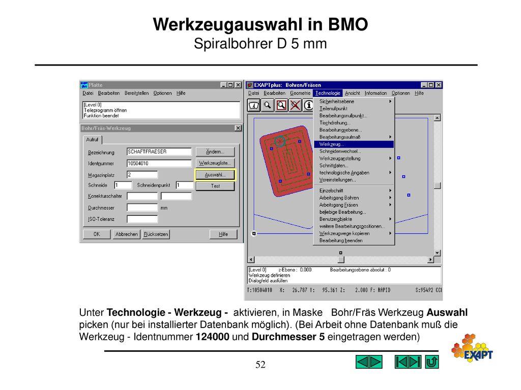Werkzeugauswahl in BMO Spiralbohrer D 5 mm