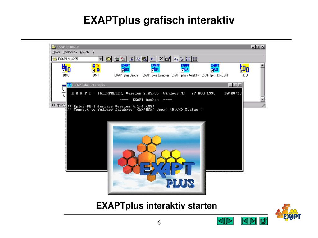 EXAPTplus grafisch interaktiv