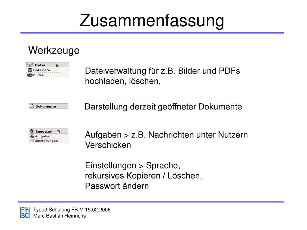 Zusammenfassung Werkzeuge Dateiverwaltung für z.B. Bilder und PDFs