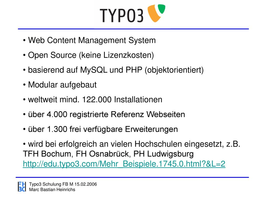 Web Content Management System Open Source (keine Lizenzkosten)